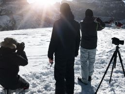 Ein tolles Onlocation Shooting auf einem Gletscher in der Schweiz
